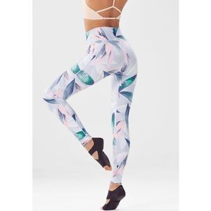 Fabletics high-waisted leggings - tropical pastel